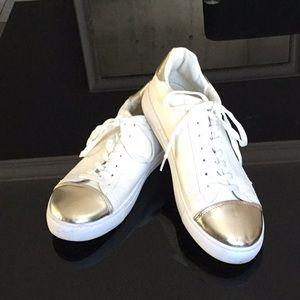 Espirit White Sneakers with Gold!